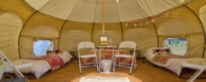 luxury Lotus Belle Tent fully furnished for glamping